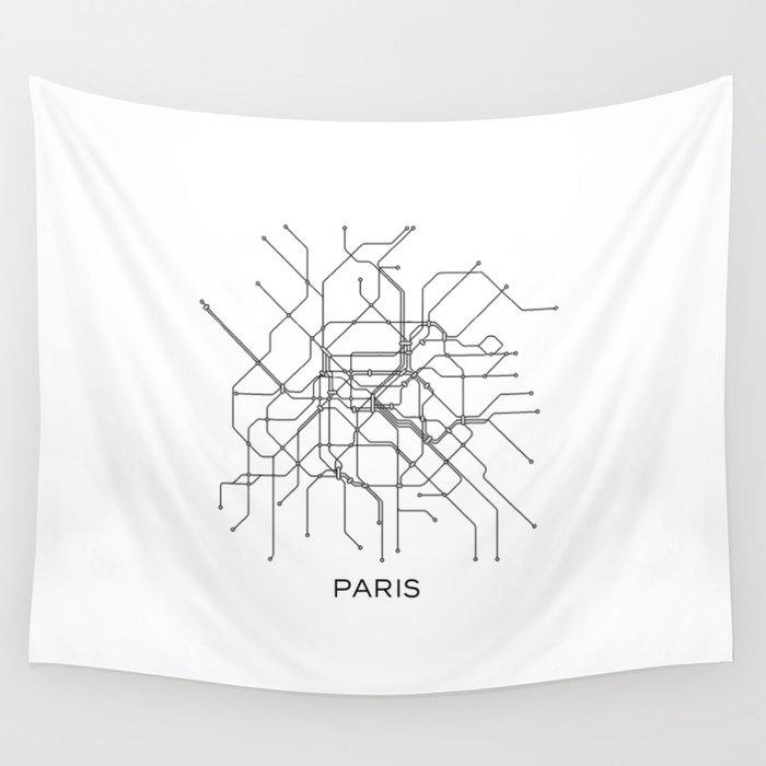 Paris Metro Map Subway Map Paris Metro Graphic Design Black And