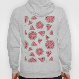 Modern pink green watercolor hand painted watermelon pattern Hoody