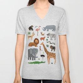 Safari Animals Unisex V-Neck