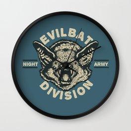 Evil Bat Division Wall Clock