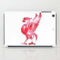 liverpool iPad Cases featuring Liverpool Liver Bird watercolour  by sarah illustration