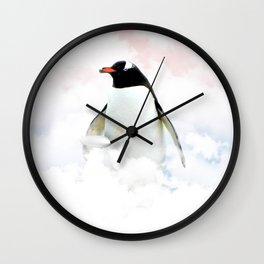 Penguin Cloud - Julien Tabet - Photoshop Artwork Wall Clock