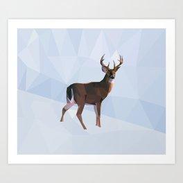Reindeer in a winterwonderland Art Print