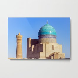 Kalyan mosque and minaret, in the city of Bukhara Metal Print