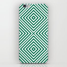 Emerald Elegant Diamond Chevron iPhone Skin