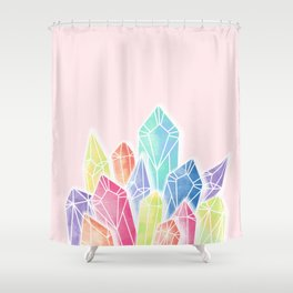 Crystals Pink Shower Curtain