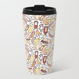 Adorable Otter Swirl Metal Travel Mug