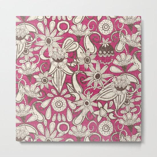 sarilmak pink brown Metal Print