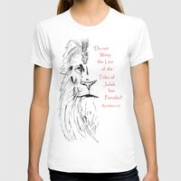narnia T-shirts featuring Revelation 5:5 Lion by Vertical Designs