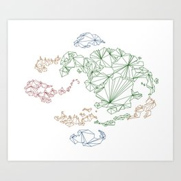 Avatar the Last Airbender: Map (Color) Art Print