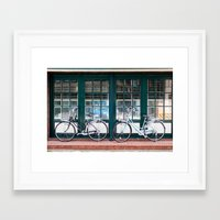 bicycles Framed Art Prints featuring Bicycles by DoryTuohey