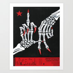 To Los Angeles With Love Art Print