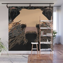 Iconic Grizzly Portrait Wall Mural