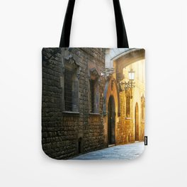 Barcelona - Early Morning in the Barrio Gotico Tote Bag