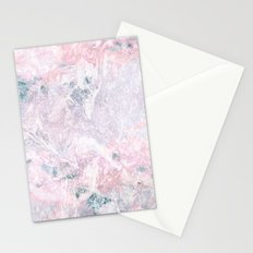 Navy Pink Marble Stationery Cards