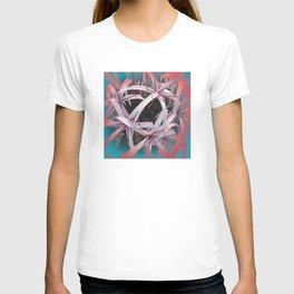 Ribbons of Life: Abstract Design T-shirt
