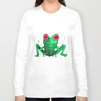 frog Long Sleeve T-shirts featuring Frog by Bwiselizzy