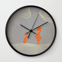 wonderland Wall Clocks featuring WONDERLAND by Ociaj