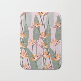 Bird of Paradise - pink Bath Mat