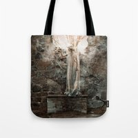 bible verses Tote Bags featuring The Dying Verses 3 by Helheimen Design