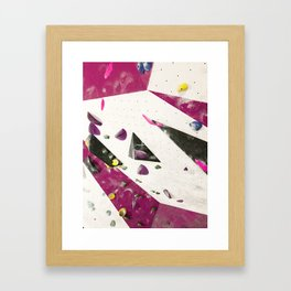 Maroon climbing wall boulders bouldering gym abstract geometric print Framed Art Print