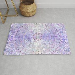 Winter Flower Mandala Rug