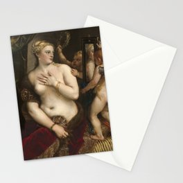 "Titian Venetian,Fine ART,""Venus with a Mirror"",anno1555, oil on canvaSWall Art Stationery Cards"