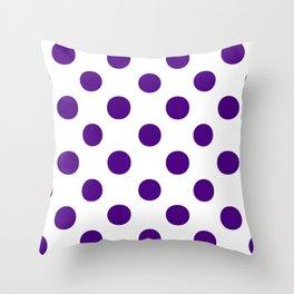 Polka Dots (Indigo/White) Throw Pillow