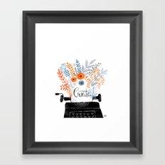 Create   Typewriter Framed Art Print