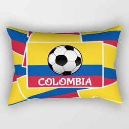 Colombia Football Rectangular Pillow
