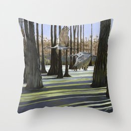 Swamp Chase Throw Pillow