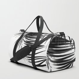 Palm Leaves Black & White Vibes #1 #tropical #decor #art #society6 Duffle Bag