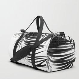 Palm Leaves Black & White Vibes #1 #tropical #decor #art #society6 Duffle Bag