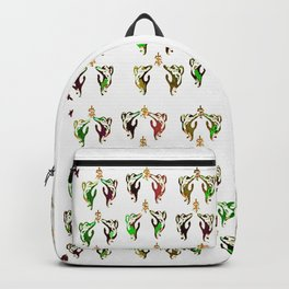 green multi cats Backpack