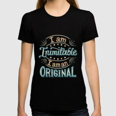 I am an original Womens Fitted Tee SMALL Black