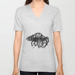 Steampunk angry crab Unisex V-Neck