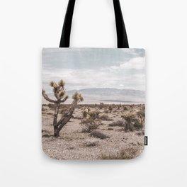 Vintage Desert Hombre // Cactus Cowboy Mojave Landscape Photograph Sunshine Hippie Mountain Decor Tote Bag