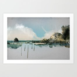 Ocean Watercolor Art Print