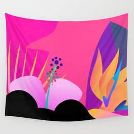 Hot Tropical Colors With Bird Of Paradise Wall Tapestry