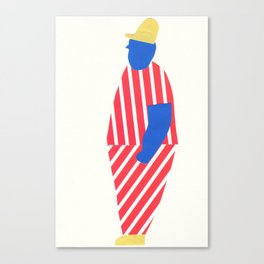 boy with yellow cap Canvas Print