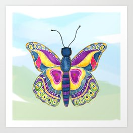 Butterfly III on a Summer Day Art Print