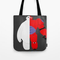 baymax Tote Bags featuring BayMax by Brieana