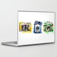 cameras Laptop & iPad Skins featuring Vintage Cameras by Abby Diamond