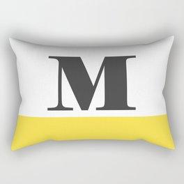 Monogram Letter M-Pantone-Buttercup Rectangular Pillow