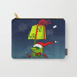 Christmas Elf Bringing a Gift Carry-All Pouch