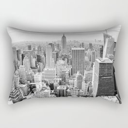 Monochrome NYC Rectangular Pillow