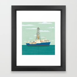 Joides Resolution Framed Art Print