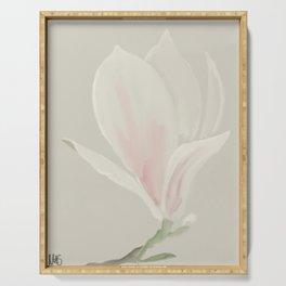 Botanical Brushstrokes ● Magnolia Blossom Serving Tray