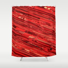 Speed Demon / Abstract 3D render of glass and metal Shower Curtain