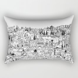 Albaicin View from the Alhambra, Granada, Spain Rectangular Pillow